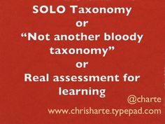 SOLO Taxonomy slideshow | Chris Harte