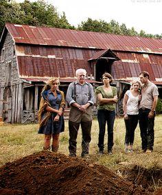 The Walking Dead: Patricia, Hershel, Maggie, Beth & Jimmy Greene