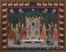 Srinathji painting by Rajendra Khanna | ArtZolo.com