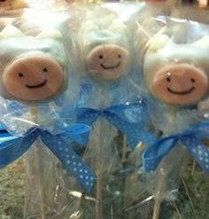 Adventure Time Finn cake pops i made for my nieces and nephew Adventure Time Quotes, Adventure Time Cakes, Adventure Time Finn, Niece And Nephew, Cake Pops, Birthday Parties, Sweets, Cookies, Christmas Ornaments