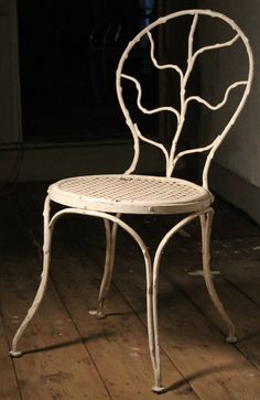 """Two """"Giacometti"""" Wrought Iron Side Chairs for Jean Michel Frank, 1935 