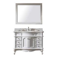 """Norhaven 48"""" Single Bathroom Vanity Set with Mirror"""