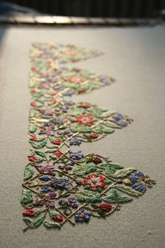 Stunning and flawless embroidery...over a YEAR to stitch!