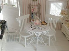 charming spot for tea time in miniature