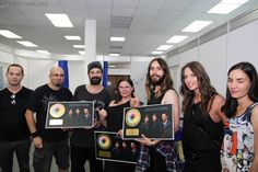 Mars receive Gold Discs for #LoveLustFaithDreams from Universal Music România 5 July 2014