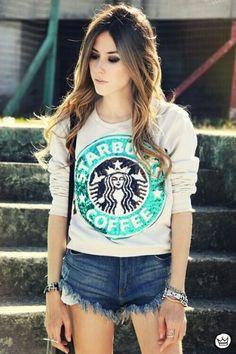 Cute Starbucks sweater!! It sparkles too omg! I need thisss! :)) xx