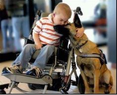 Unconditional Love. There aren't many relationships more special than a service dog and his/her human.
