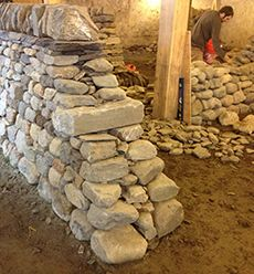 dry stone walls at the stone trust - they provide training and cert for  drystack stone