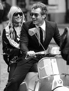 Jude Law on a Vespa