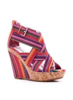 striped strappy wedge $23.10  Lovin this!!!!! I want them as of yesterday!