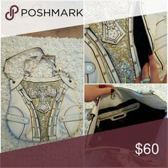 MissMe purse Clean inside and out. Does have one spot from my jeans in a crease but isn't noticeable. Strap for crossbody is removable Miss Me Bags Shoulder Bags