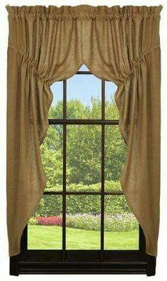 Tuscan style – Mediterranean Home Decor Farmhouse Style Curtains, Country Curtains, Cottage Curtains, Primitive Bathrooms, Primitive Kitchen, Country Farmhouse, Country Decor, Country Primitive, Primitive Decor