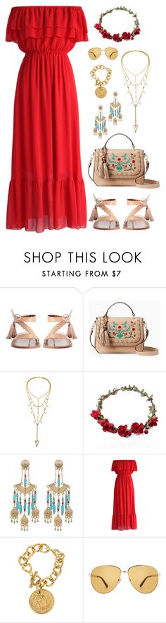 """""""Running late"""" by rochellechristine ❤ liked on Polyvore featuring Zimmermann, Kate Spade, Steve Madden, Chicwish, Chanel and Gucci"""