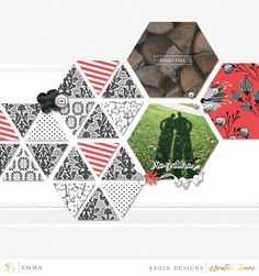 Digital scrapbook layout using Monochrome Fall collection by Sahin Designs…