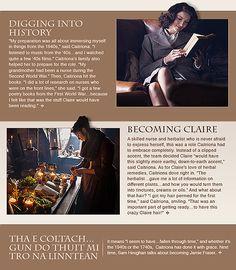 Caitriona Balfe as Claire Randall Fraser from the Outlander Starz newsletter 2 of 2
