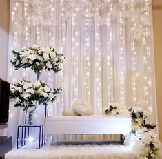 Indoor Wedding Receptions, Wedding Reception Lighting, Romantic Wedding Decor, Simple Wedding Decorations, Wedding Ceremony Backdrop, Engagement Party Decorations, Wedding Scene, Backdrop Decorations, Fairy Lights