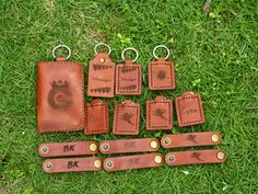 Leather Keychain, License Wallet, and Cable Clip Organizer