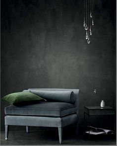 Black Monochromatic Room Interior Design Used Traditional Chair Furniture as Home Inspiration