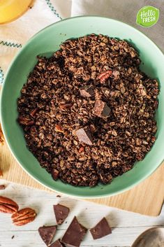 4 x zelfgemaakte granola Healthy Food, Healthy Recipes, Morning Food, Cookie Desserts, The Fresh, Early Morning, Granola, Tasty, Homemade