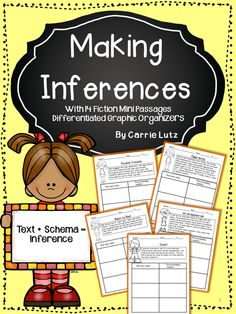 BEST SELLER!!! Inferring..... Isn't it a hard skill to assess??? Especially for first grade. Most texts on first grade level do not lend themselves well to making inferences. My team and I were having a really hard time finding material that would assess how well our students were mastering making inferences. I made a few little passages that finally developed into this packet.