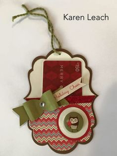 Gift card holder with Close to my Heart White Pines