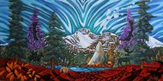 Artist: K Neil Swanson, MOOSE MOUNTAIN AND THE ELBOW VALLEY CAMP Canada House, Artwork Display, Moose, Presents, Mountain, Gallery, Artist, Painting, Elk