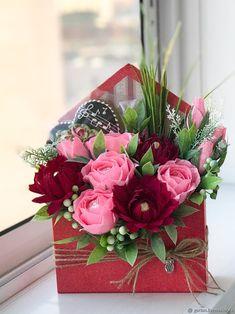 Купить Букет в конверте для Учителя/воспитателя/музык.педагога с пряником - подарок девушке, оригинальный подарок, сладкий подарок