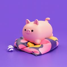 Daily Dose of Design Inspiration: For this Daily we are selecting in digital art, graphic design, photography, illustration and more . Pig Illustration, Illustration Artists, Vinyl Toys, Vinyl Art, Baby Elephant Drawing, 3d Things, Different Art Styles, Found Object Art, Toy Art