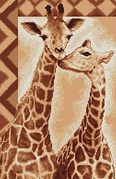 Giraffe Cross Stitch Kit By Luca S