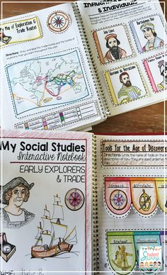 The Age of Exploration Interactive Notebook featuring famous explorers and trade routes. My students love creating these notebooks! 7th Grade Social Studies, Social Studies Notebook, Social Studies Classroom, History Classroom, Teaching Social Studies, History Education, Teaching History, Explorers Unit, Early Explorers