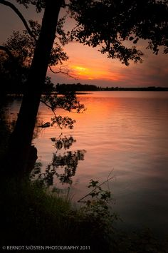 Evening Light: Sunset by lake Vättern by Berndt Sjösten (Lake where my grandmother grew up in Sweden)