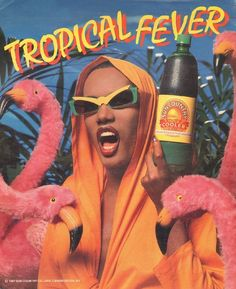 Tropical Grace In Your Face / Grace Jones Grace Jones, Sylvester Stallone, Grafik Design, Amazing Grace, Vaporwave, Vintage Ads, Vintage Magazines, Vintage Black, Kenzo