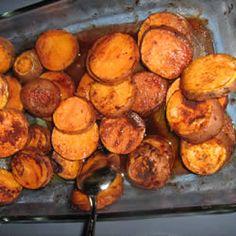 Cinnamon Roasted Sweet Potatoes Recipe - Allrecipes.com