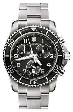 Victorinox Swiss Army® 'Maverick GS' 241432 Stainless Steel Chronograph Watch