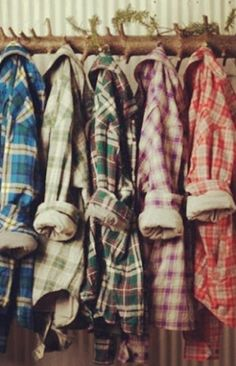 Flannel shirts for autumn, cozy and comfy