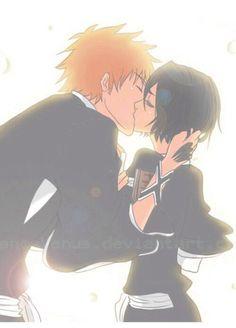Ichigo and Rukia, Bleach Ichigo X Rukia, Bleach Rukia, Bleach Anime, Bleach Fanart, Anime Naruto, Anime Guys, Manga Anime, Anime Love, Studio Ghibli Wallpaper