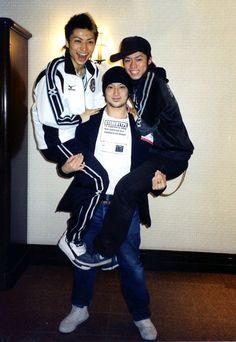 A Photo about 10 years ago. Yamato Tamura(Professional skater and coaching stuff), Kenji Miyamoto(Icedancer and coreographer) and Daisuke Takahashi