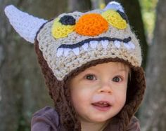 Where The Wild Things Are crochet hat by crochetmomma2011 on Etsy