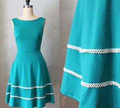 COQUETTE in JADE  Teal emerald green dress with by FleetCollection, $68.00