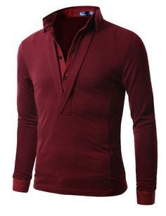 Doublju Mens Jersey T-shirts with Shirt Layered WINE (US-M) Doublju,http://www.amazon.com/dp/B00C4O1L6C/ref=cm_sw_r_pi_dp_VafIsb14W2SHD1R5
