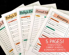 Printable nanny and childcare log. Includes 3 ages/stages, current schedule for… Daycare Forms, Home Daycare, Infant Child Care, Nanny Binder, Nanny Agencies, Kids Schedule, How To Write Calligraphy, Infant Activities, Babysitting