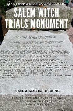 In 1692, more than 200 people in #Salem were accused of witchcraft, with 19 found guilty and hanged. This monument and park are a tribute to those atrocities. #salem #massachusetts #newengland #witches #salemwitchtrials #monuments #wanderlust #momentsofmine #traveladdict #roamtheworld #solotravel #solofemaletravel