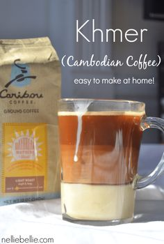Khmer coffee (Cambodian Coffee) recipe: 8 oz brewed coffee (we are fans of our french press and Chemex! In fact, we don't own an auto coffee sweetened condensed milk I Love Coffee, Hot Coffee, Coffee Break, Coffee Drinks, Iced Coffee, Coffee Png, Coffee Thermos, Ninja Coffee, Irish Coffee