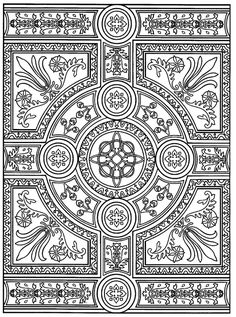 intricate parquet patterns difficult coloring pages for grown ups