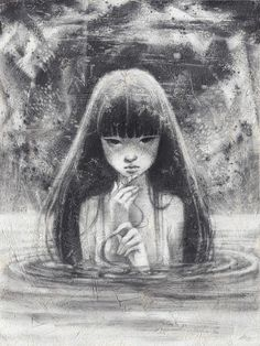 graphite drawings for the Muses group show in Swoon Gallery