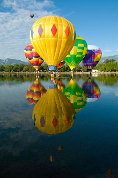 Hot Air Balloon Reflections by PhotoPerspectiv