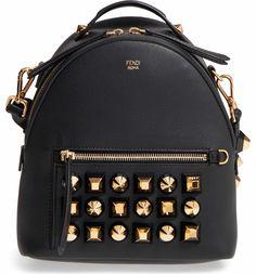 Fendi Mini Studded Leather Backpack   Nordstrom. Sac À Dos En Cuir Noir ·  Cuir Clouté ... 89e91438726