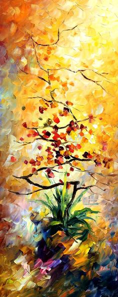 TREE - Palette knife Oil Painting  on Canvas by Leonid Afremov http://afremov.com/TREE-Palette-knife-Oil-Painting-on-Canvas-by-Leonid-Afremov-Size-16-x40.html?bid=1&partner=15955