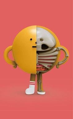 New XXRay Dissection Series, Sticky Monster Lab x Jason Freeny x Mighty Jaxx Character Modeling, 3d Character, Sticky Monster, Anatomy Images, Anatomy Sculpture, Balloon Dog, Modelos 3d, 3d Max, Vinyl Toys