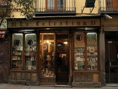 Book shop in Madrid.. The front of my bakery/coffee place will look like this.